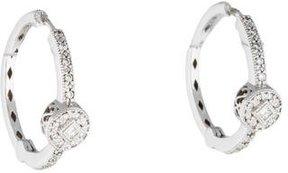 Charriol Flamme Blanche Diamond Hoop Earrings