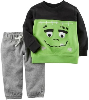 Carter's Baby Boy French Terry Frankenstein Top & Bottoms Set