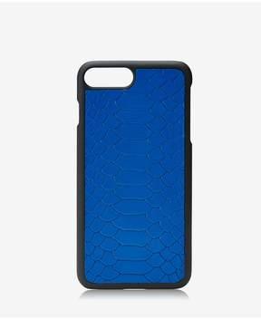 GiGi New York Iphone 7 Plus HardShell Case In Cobalt Embossed Python