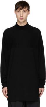 Julius Black Mock Neck T-Shirt