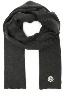 Moncler Men's Grey Wool Scarf.