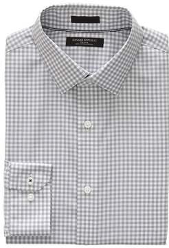 Banana Republic Camden Standard-Fit Non-Iron Gingham Shirt
