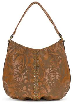 Patricia Nash Bello Laser Floral Leather Hobo