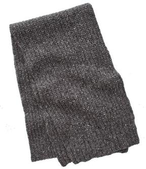 Todd Snyder Ribbed Knit Scarf in Charcoal