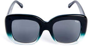 Quay Day After Oversized Teal Sunglasses