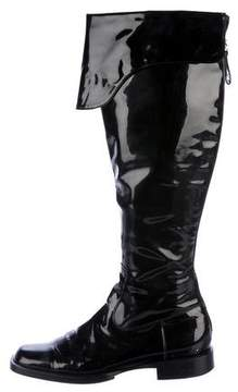 Chanel Over-The-Knee CC Boots