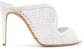 Alexandre Birman Tanny Woven Leather Mules - White