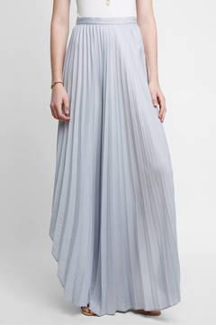 Dolce Vita Asymmetric Hem Pleated Maxi Skirt