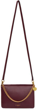 Givenchy Burgundy and Grey Cross 3 Bag