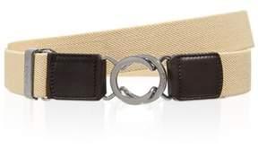 Tod's Men's Beige Canvas Belt.