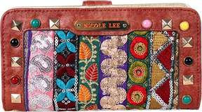Nicole Lee Heloise Fabric Embroidered Wallet (Women's)