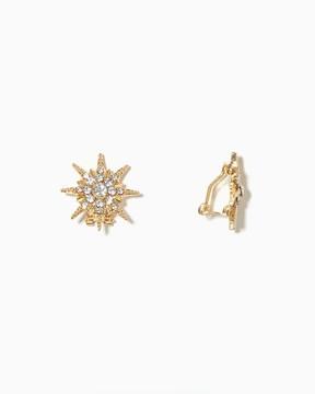 Charming charlie Star Burst Clip-on Earrings