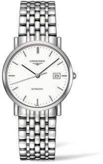 Longines Elegant Collection Stainless Steel Automatic Link Bracelet Watch