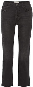 Current/Elliott The Original Straight High-rise Jeans - Gray