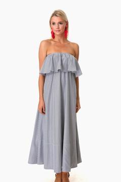 Do & Be Do+Be Graphite Stripe Savannah Maxi Dress