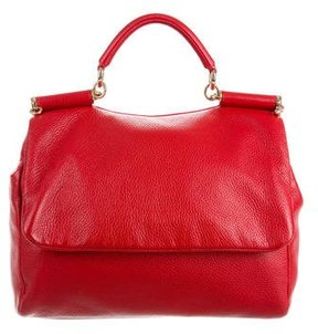 Dolce & Gabbana Miss Sicily Bag - RED - STYLE