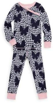 Hatley Little Girl's & Girl's Two-Piece Butterflies & Buds Cotton Pajama Set