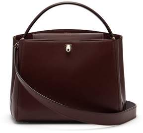 Valextra Brera Medium Leather Bag - Womens - Burgundy Multi