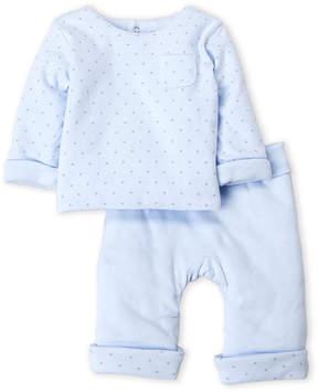 Absorba Newborn Boys) Two-Piece Star Print Top & Pants Set