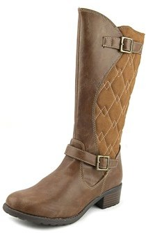 Rachel Odessa Round Toe Synthetic Mid Calf Boot.