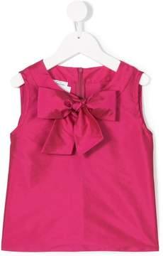 Oscar de la Renta Kids Taffeta bow blouse