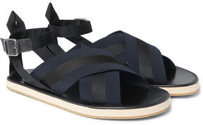 Dries Van Noten Leather And Grosgrain Sandals