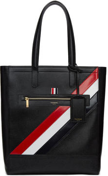 Thom Browne Black Stripe Tote Bag