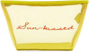 Neiman Marcus Sun-Kissed Mesh Cosmetics Bag