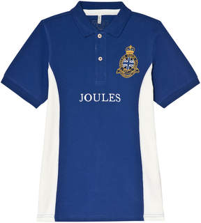 Joules Blue Pique Branded Polo Top