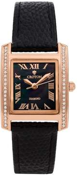 Croton Women's Diamond Leather Swiss Watch