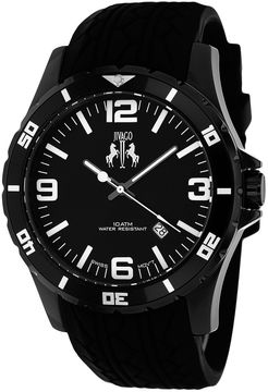 Jivago Ultimate Mens Black Silicone Strap Watch