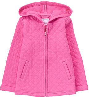 Gymboree Pink Matte Quilted Jacket - Infant, Toddler & Girls