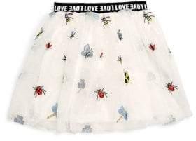 Hannah Banana Little Girl's Embroidered Mesh Skirt