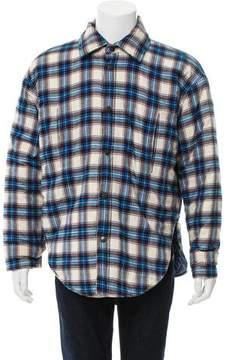 Balenciaga 2017 Plaid Button-Up Coat w/ Tags