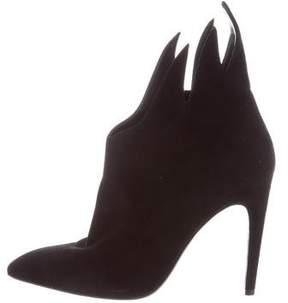 Bottega Veneta Suede Round-Toe Ankle Boots