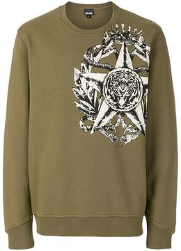 Just Cavalli star and animal print sweatshirt
