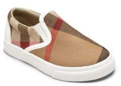Burberry Toddler's Linus Checked Slip-On Sneakers