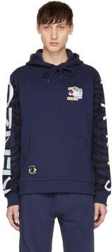 Kenzo Navy Multi Icons Badge Hoodie