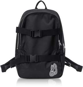 McQ Black Nylon Bunny Backpack
