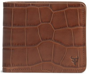 Trask Men's 'Jackson' Slimfold Embossed Leather Wallet - Brown