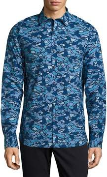 Michael Bastian Men's Camo Cotton Button-Down Shirt