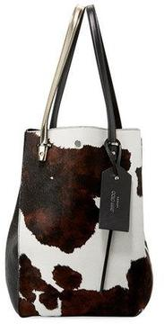 Jimmy Choo Twist Men's Cow-Print Calf-Hair Tote Bag