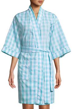 BedHead Gingham Short Kimono Robe