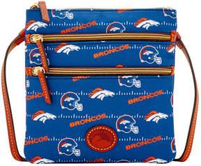 Dooney & Bourke Denver Broncos Nylon Triple Zip Crossbody - NAVY - STYLE