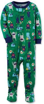 Carter's 1-Pc. Monster-Print Footed Pajamas, Baby Boys
