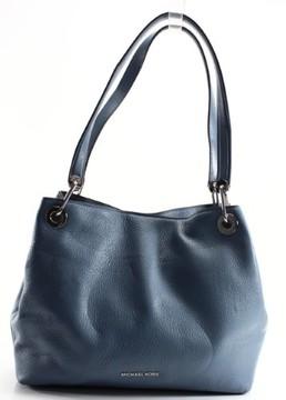 Michael Kors Leather Large Shoulder Bag - DENIM BLUE - STYLE