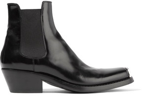 CALVIN KLEIN 205W39NYC - Claire Leather Ankle Boots - Black