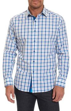 Robert Graham Men's Big & Tall Classic Fit Check Sport Shirt