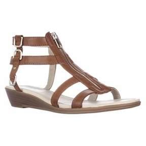 Rialto Gracia Front Zip Gladiator Sandals, Cognac/burn.