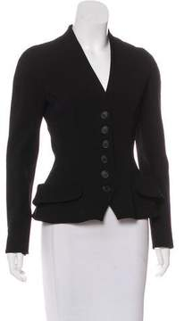 Christian Dior Collarless Button-Up Blazer